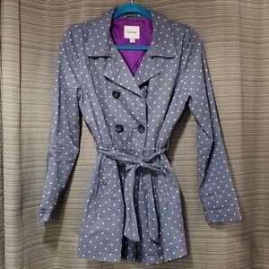 Jackets & Blazers - Grey polka dotPea coat